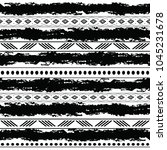 black and white tribal vector... | Shutterstock .eps vector #1045231678