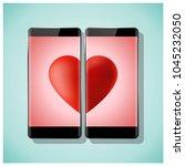 online dating concept love has... | Shutterstock .eps vector #1045232050