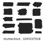 black ink brush stroke. vector... | Shutterstock .eps vector #1045237018
