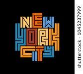 new york city typography poster.... | Shutterstock .eps vector #1045237999