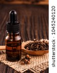 essential oil of cloves on a... | Shutterstock . vector #1045240120