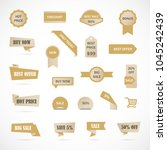 vector stickers  price tag ...   Shutterstock .eps vector #1045242439