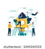 vector illustration people are... | Shutterstock .eps vector #1045242523