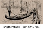 venetian canal and unique... | Shutterstock .eps vector #1045242703