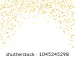 festive design. border of gold... | Shutterstock . vector #1045245298