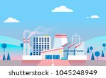 industrial factory on... | Shutterstock .eps vector #1045248949