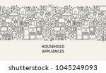 household appliances banner... | Shutterstock .eps vector #1045249093