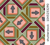 seamless abstract pattern with... | Shutterstock .eps vector #1045253290