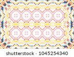 colorful mosaic pattern for... | Shutterstock . vector #1045254340