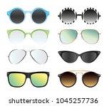 vector illustration set of... | Shutterstock .eps vector #1045257736