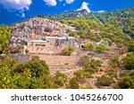 pustinja blaca hermitage on the ... | Shutterstock . vector #1045266700