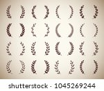 collection of sixteen circular... | Shutterstock .eps vector #1045269244