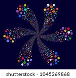 bright life star cyclonic... | Shutterstock .eps vector #1045269868
