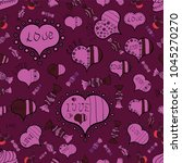 couple romantic love heart.... | Shutterstock .eps vector #1045270270
