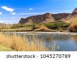 the rio grande river on the... | Shutterstock . vector #1045270789