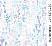 hand drawn seamless pattern... | Shutterstock .eps vector #1045271290