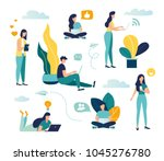 vector colorful illustration of ... | Shutterstock .eps vector #1045276780