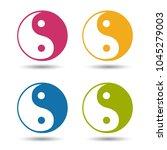 yin yang symbol   colourful... | Shutterstock .eps vector #1045279003