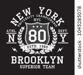 new york  brooklyn typography... | Shutterstock .eps vector #1045285078