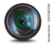 photo lens icon with an optical ...   Shutterstock .eps vector #1045285180