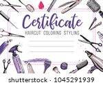 hair cut  hairdressing business ... | Shutterstock .eps vector #1045291939