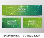 medical banner with... | Shutterstock .eps vector #1045295224