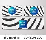 linear banner with... | Shutterstock .eps vector #1045295230