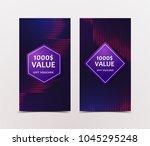 gift voucher with technological ... | Shutterstock .eps vector #1045295248