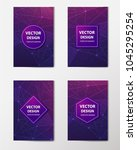 medical banner with... | Shutterstock .eps vector #1045295254