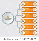 vector abstract 3d paper... | Shutterstock .eps vector #1045295359