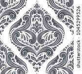 black and white damask vector... | Shutterstock .eps vector #1045299526