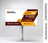 billboard design  template for... | Shutterstock .eps vector #1045300963