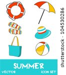 set of pretty colorful summer... | Shutterstock .eps vector #104530286