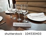 reserved plate on an arranged... | Shutterstock . vector #104530403