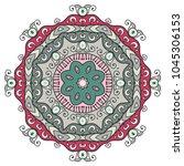 mandala flower decoration  hand ...   Shutterstock .eps vector #1045306153