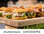 sandwich and salad catering... | Shutterstock . vector #1045306996