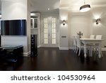 interior of designer living room | Shutterstock . vector #104530964
