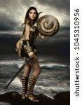 gladiator roman warrior  | Shutterstock . vector #1045310956