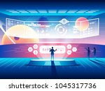 futuristic control center...