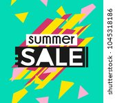 sale banner design vector.... | Shutterstock .eps vector #1045318186