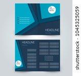 fold brochure template. flyer... | Shutterstock .eps vector #1045325059