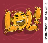 lol lots of laughs with... | Shutterstock .eps vector #1045329310