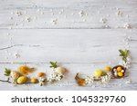easter background with...   Shutterstock . vector #1045329760