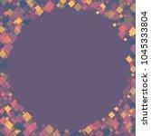 rhombus violet minimal... | Shutterstock .eps vector #1045333804