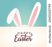 happy easter vector design with ... | Shutterstock .eps vector #1045335799
