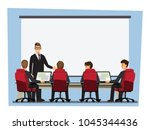 business people having board... | Shutterstock .eps vector #1045344436