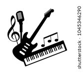 music icon logo of indie rock... | Shutterstock .eps vector #1045346290