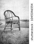 old photo beautiful chair on... | Shutterstock . vector #1045346554