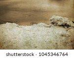 old photo beautiful seashore... | Shutterstock . vector #1045346764