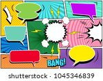 comic book page template with...   Shutterstock .eps vector #1045346839